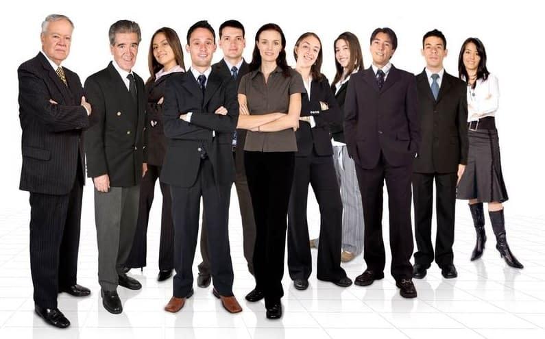 Inter-generational business team