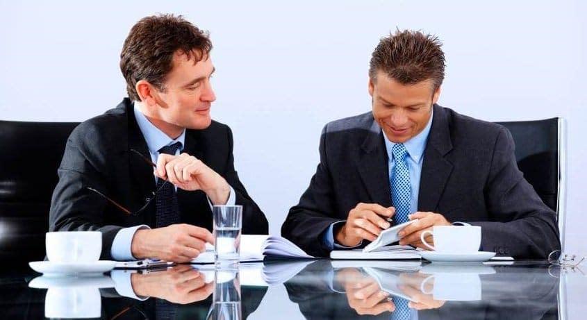 Business Men giving feedback